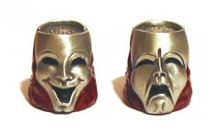 Comedy Tragedy Masks Thimble Theatrical Collectible Thimble
