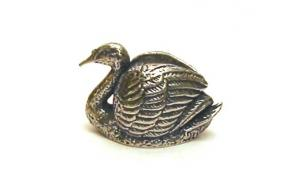 The Bewick Swan Thimble Polished Pewter Collectible Thimble